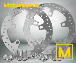 11.8 ENFORCER STYLE BRAKE ROTOR SET FOR HARLEY TOURING BAGGER 2014-UP With BOLTS