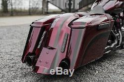 14-20 Bagger Extended 5 Stretched Saddlebags Fender Kit For Harley-davidson