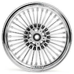 16x3.5 Fat Spoke Wheel Rims Set for Harley Touring Bagger Road King 84-08 Chrome