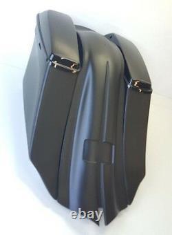 1997-2008 6 Drop Back / Fender 14 Harley Touring Bagger Saddlebags No Lids