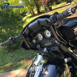 1-1/4 Black 12 Monkey Bagger Bars Handlebars For Harley Touring FLHX FLH 86-21
