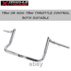 1-1/4 Chrome 10 Bagger Handlebars For Harley Touring and Bagger 1996-UP