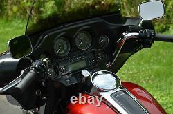 1 Chrome 9 1/4 Handlebars Ape Hanger Bars Harley Touring Bagger Dresser 96-17