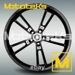 21 21x3.5 Enforcer Wheel Reinforcer Rim Black For Harley Touring Bagger Model