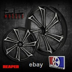 21 Inch Reaper 3D Custom Motorcycle Wheel Harley Bagger Touring