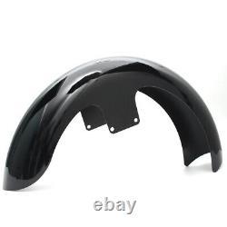 21 Wrap Front Fender Vivid Black For Harley Touring Electra Street Glide Bagger