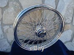 21 X3.5 80 Spoke Wheel Shinko White Wall Tire Kit Harley Touring Bagger 00-07