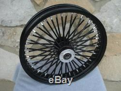 21 X 3.5 Black 48 Fat King Spoke Front Wheel Harley Touring Bagger 2008-up