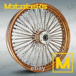 21x3.5 52 Fat Spoke Diamond Rose Gold Wheel For Harley Touring Bagger Models New