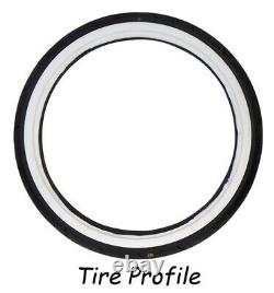 23 Vee Rubber WW White Wall Front Tire 130/50B23 For Harley Bagger 50901