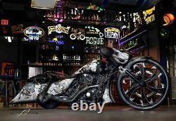 26 Inch Dirty Hooker Custom Motorcycle Wheel Harley Bagger Touring