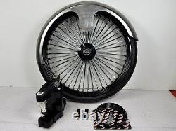 26 Inch Front End Wheel Tire Kit Harley Bagger Road Glide King Spoke Wire 08-13