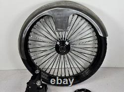 26 Inch Front End Wheel Tire Kit Harley Bagger Road Glide King Spoke Wire 08-13