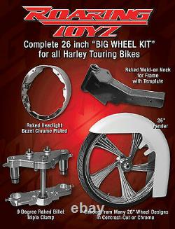 26 Inch Front End Wheel Tire Kit Harley Bagger Street Glide Road King Touring FL