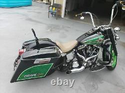 2 into 1 Custom Header Exhaust Harley Bagger Softail Dyna Chopper Heat Shield 02