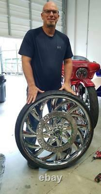 30 Inch El Kurwa Custom Motorcycle Wheel Harley Bagger Touring