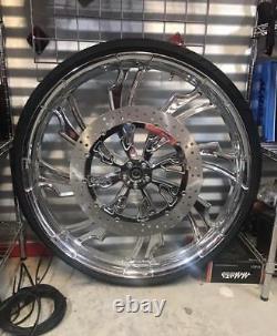 30 Inch Guinzu Custom Motorcycle Wheel Harley Bagger Touring