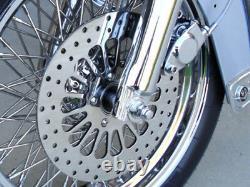 3 Pc Harley Touring Bagger Sportster Dyna Dna Spoke Brake Rotors Set 2000-07