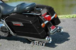 4 Megaphone Slip-On Mufflers Exhaust For Harley Bagger Touring Models 1995-2016