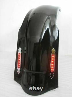 4 Stretched bagger extended Rear FENDER COVER Harley Touring 97-08 NO CUT OUT