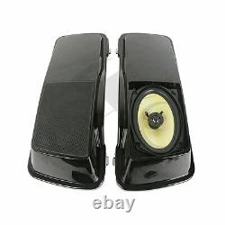 6x 9 Saddlebags Lid + Speakers For Harley Touring Models FL Bagger Saddle Bags
