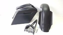 97-07 Harley Davidson Flh Bagger Kit saddlebags 6.5 Lids fender Chin Spoiler