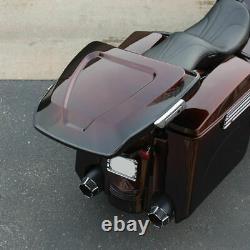 Arlen Ness ABS Molded Rear Tour Pack Trunk Harley Touring Bagger Dresser 97-20