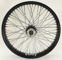 Black Billet 60 Spoke 23 x 3.5 Dual Disc Front Wheel for Harley Bagger Custom