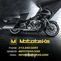 Black Fat Spoke Wheel 21x3.5 52 Dna Harley Touring Bagger Rotors Tire Mounted