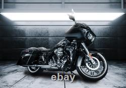 Black Harley Fat Spoke Wheel 21x3.5 Nova Fits Touring Bagger 2000-up Tire Rotors