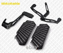 Black Harley Floorboards Footboards For Touring Bagger Models 1984-2008 New
