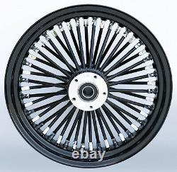 Black Ultima 38 King Spoke 16 x 3.5 Rear Wheel Harley Softail Bagger Custom