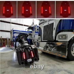 CVO Stretched Rear Fender System with LED Lights For Harley Touring Bagger 93-08