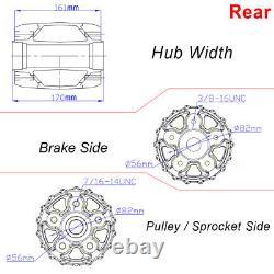 Chrome 16x3.5 Fat Spoke Rear Wheel for Harley Touring Bagger Electra Glide 00-08