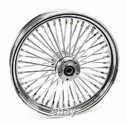 Chrome 18 3.5 48 Fat King Spoke Rear Wheel Rim Harley Touring Softail Bagger