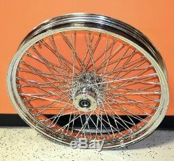 Chrome 23 3.5 80 Spoke Front Wheel Rim 2000-2007 Harley Touring Dual Disc Bagger