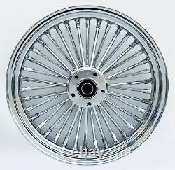 Chrome 38 King Spoke 16 x 3.5 Rear Wheel Harley Softail Bagger Custom