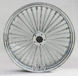 Chrome 38 King Spoke 21 x 3.5 Dual Disc Front Wheel for Harley Bagger Chopper