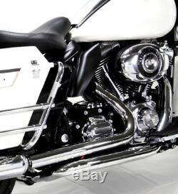 Chrome True Dual Exhaust Dresser Header Pipes Bagger Harley Touring 2010-2016 FL