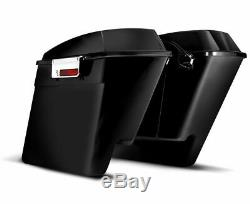 DNA 4 Stretched Extended ABS Saddlebags Bag Latches Harley Touring Bagger 93-13