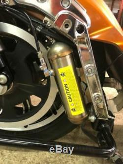 Dirty Air Harley Touring Bagger Rear Air Ride Shocks Suspension Kit Fast Up 80+