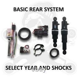 Dirty Air Rear Basic Bagger Air Ride Rear Suspension Shock Kit Harley FLH 96-08