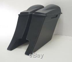 Dual Exhaust Stretched Saddle Bags 6 Inches Harley Davidson Touring Flh Bagger