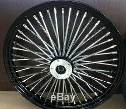Fat Spoke 21 Black Front Wheel 08-13 Harley Flhx Street Glide Flhxse Cvo Bagger
