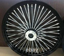 Fat Spoke 21 Black Front Wheel 08-13 Harley Fltr Road Glide Fltrx Fltru Bagger