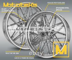Fat Spoke Wheel 16x3.5 Front Rear Set For Harley Touring Bagger Models 2000-2008
