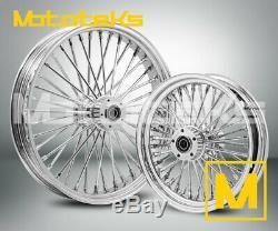 Fat Spoke Wheel 21x3.5 & 18x3.5 40 Fat Harley Touring Bagger Models 2000-2008