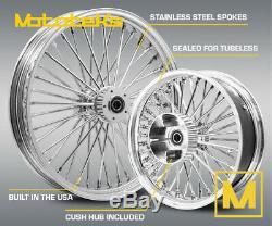Fat Spoke Wheel 21x3.5 & 18x5.5 40 Fat Cush Harley Touring Bagger 2009 & Above