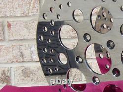 For Harley Round Oem Polished Circular Front Brake Rotor Pair Touring Bagger