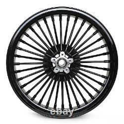 Gloss Black 21''x3.5 Fat Spoke Front Wheel for Harley Softail Touring Bagger
